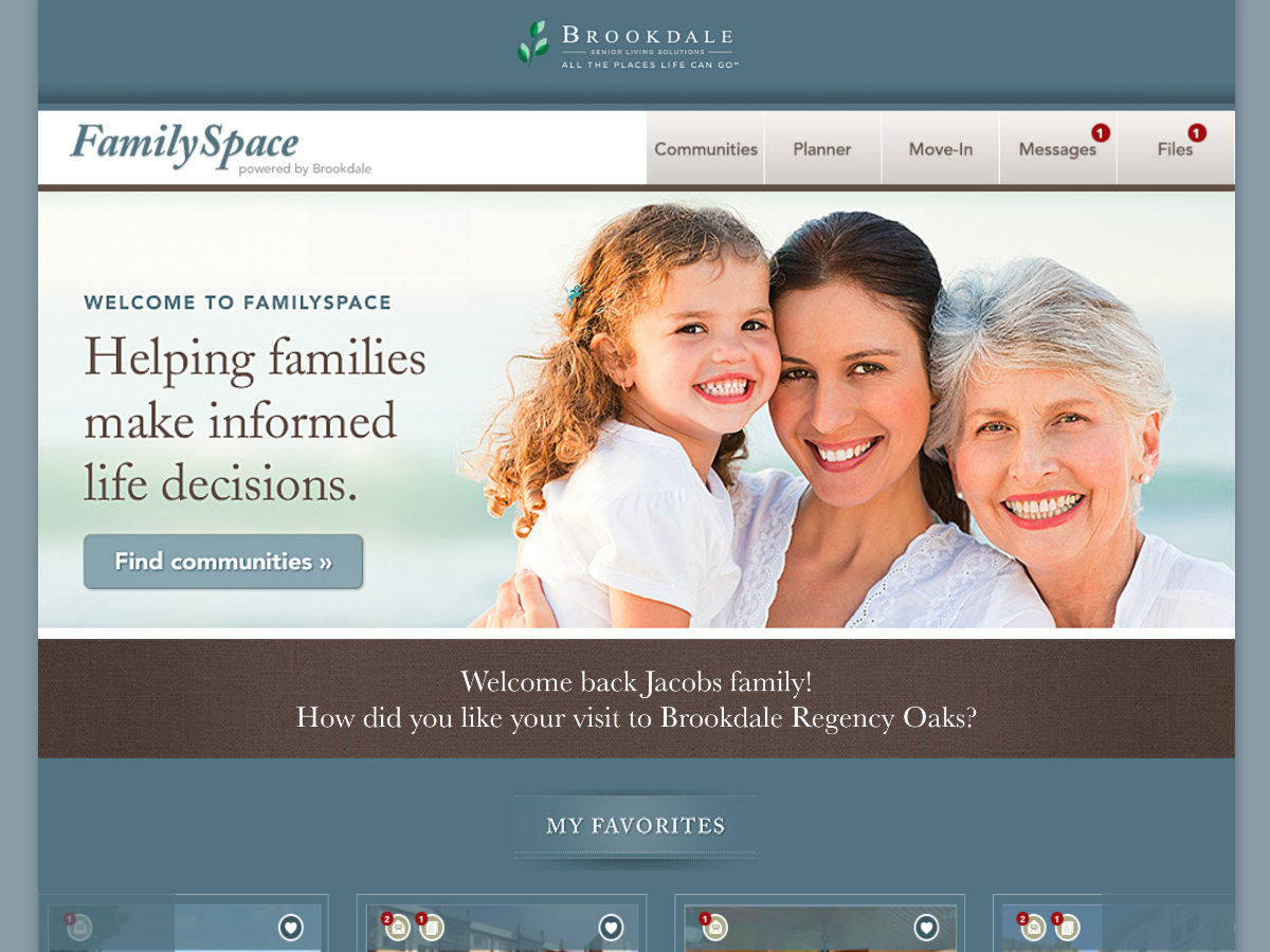 Brookdale Family Space screenshot