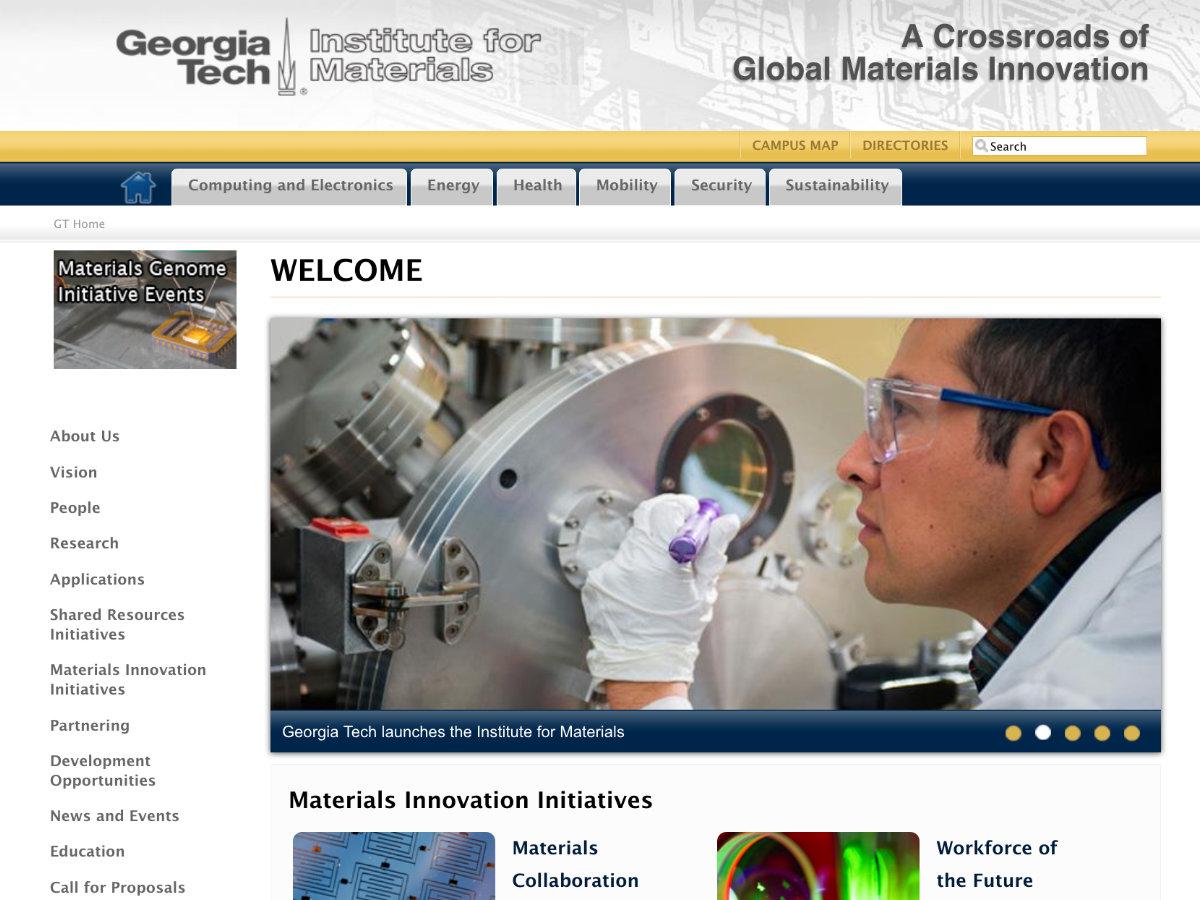 GATech:Materials screenshot