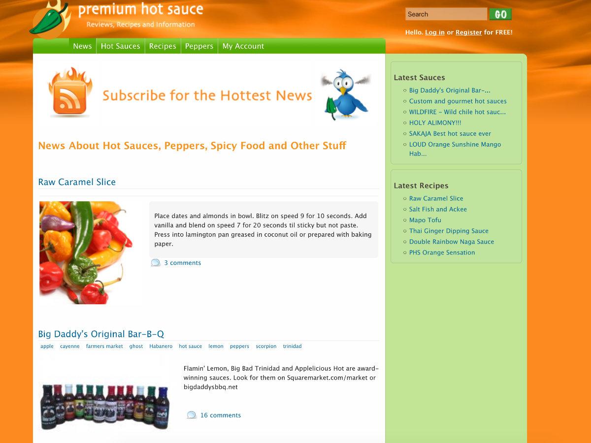 Premium Hot Sauce screenshot